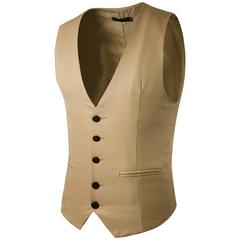 (พร้อมส่ง)เสื้อผ้าผู้ชาย ราคาถูก เสื้อกั๊ก เท่ๆ มี สีกากี  มี ไซร์ L