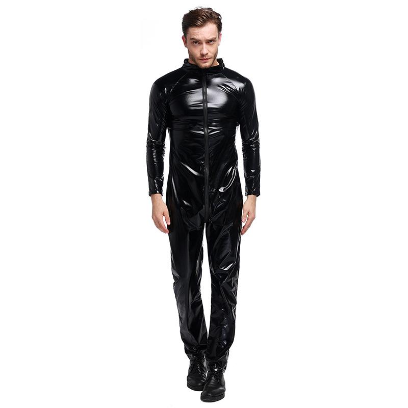 ++พร้อมส่ง++ชุดหนังรัดรูปสีดำผู้ชาย เทห์มาก ความสูงประมาณ 168-175 cm.