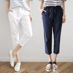 กางเกงผู้หญิง ราคาถูก กางเกงฝ้าย กางเกงแฟชั่น กางเกงลำลอง เท่ๆ มี สีขาว สีน้ำเงิน สีดำ มี ไซร์ S M L XL 2XL 3XL
