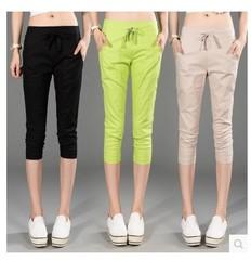 กางเกงผู้หญิง ราคาถูก กางเกงฝ้าย กางเกงแฟชั่น กางเกงลำลอง เท่ๆ มี สีกากี สีเขียว สีดำ มี ไซร์ S M L XL 2XL 3XL
