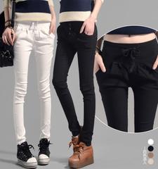 กางเกงผู้หญิง ราคาถูก กางเกงฝ้าย กางเกงแฟชั่น กางเกงลำลอง เท่ๆ มี สีกากี สีขาว สีดำ มี ไซร์ S M L XL 2XL 3XL
