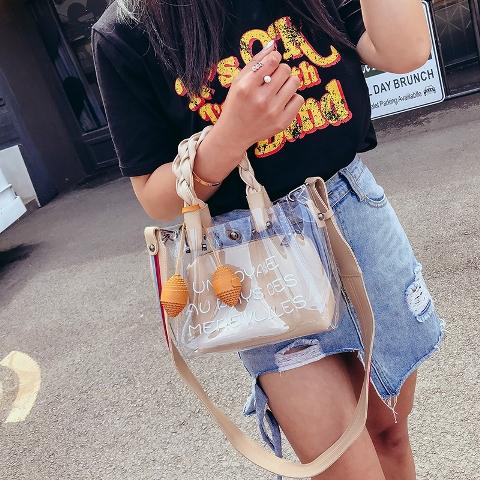 กระเป๋าสะพายแฟชั่น กระเป๋าใสแฟชั่น กระเป๋าแฟชั่นผู้หญิง