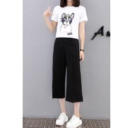 กางเกงขาสามส่วน เอวยางยืด มีสี ดำ มีไซส์ L/XL/2XL/3XL/4XL/5XL