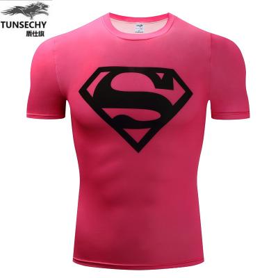 เสื้อผ้าผู้ชาย ผู้หญิง ราคาถูก เสื้อยืดแขนสั้น ผ้ายืดหยุ่น เสื้อผ้าออกกำลังกาย มี สีตามรูป มี ไซร์ S M L XL 2XL 3XL 4XL