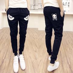 กางเกงผู้ชาย ผู้หญิง ราคาถูก กางเกงลำลอง กางเกงแฟชั่น เกาหลี มี สีดำ มี ไซร์ M L XL 2XL