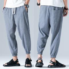 กางเกงผู้ชาย ราคาถูก กางเกงผ้าลินิน กางเกงแฟชั่น กางเกงลำลอง มี สีเทา สีน้ำเงินเข้ม สีดำ สีฟ้า สีเทาฟ้า มี ไซร์ M L XL 2XL 3XL 4XL 5XL