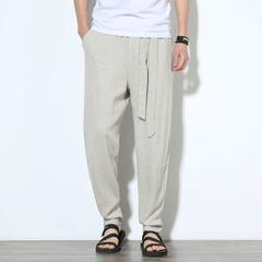 กางเกงผู้ชาย ราคาถูก กางเกงลำลอง กางเกงขายาว กางเกงลินิน มี สีเทา สีดำ สีขาวข้า สีน้ำเงิน สีน้ำตาล มี ไซร์ M L XL 2XL 3XL 4XL 5XL