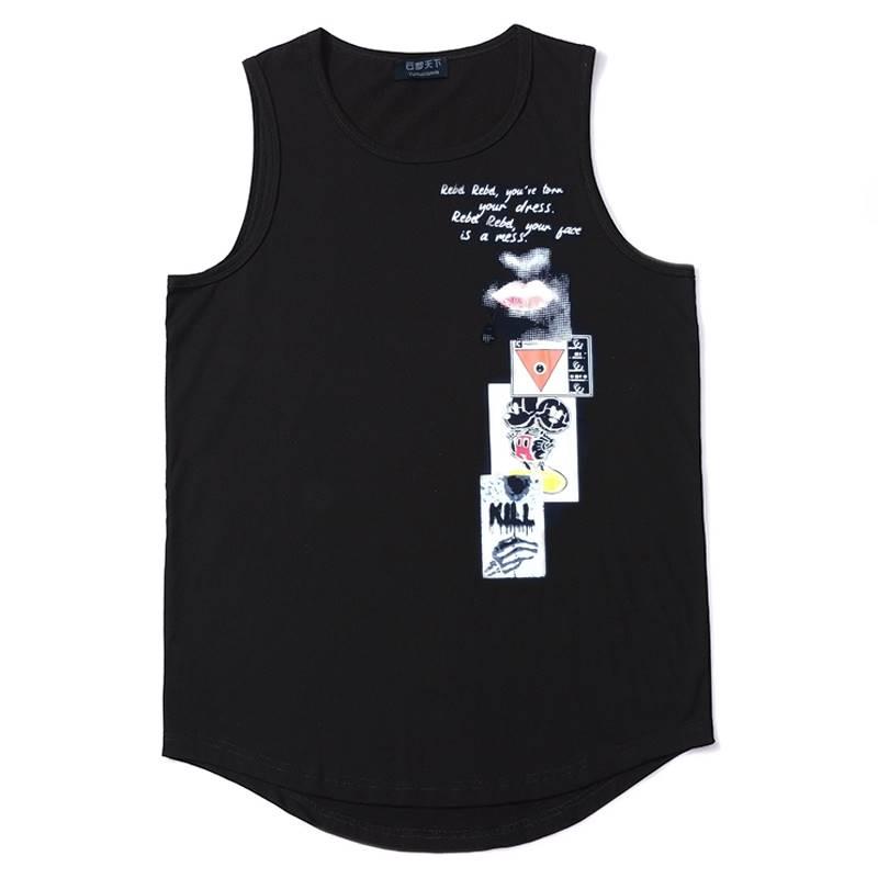 ขนาด:2XL 3XL 4XL 5XL 6XL 7XL 8XL สี:ดำ เสื้อคนอ้วน เสื้อผ้าผู้ชาย ขนาดใหญ่ เสื้อกล้าม