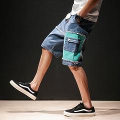 กางเกงผู้ชาย ผู้หญิง ราคาถูก กางเกงยีนส์ขาสั้น มี สีแตงโม สีฟ้า มี ไซร์ M L XL 2XL 3XL 4XL 5XL