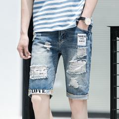 กางเกงผู้ชาย ผู้หญิง ราคาถูก กางเกงยีนส์ขาสั้น มี สีฟ้า มี ไซร์ 28-36