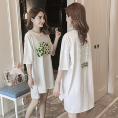 เสื้อผ้าผู้หญิง ราคาถูก เสื้อยืดแขนสั้น ยาวหลวม มี สีตามรูป มี ไซร์ M L XL