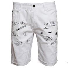 กางเกงผู้ชาย ราคาถูก กางเกงยีนส์ขาสั้น มี สีดำ สีขาว มี ไซร์ 28-38