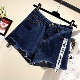 กางเกงขาสั้น ผ้ายีนส์ มีสี น้ำเงิน มีไซส์ L/XL/2XL/3XL/4XL