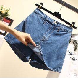 กระโปรงกางเกง ผ้ายีนส์ มีสี ฟ้า มีไซส์ L/XL/2XL/3XL/4XL