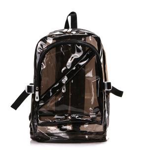 (พร้อมส่งสีดำ) กระเป๋าใส กระเป๋าเป้สะพายหลังแบบใส กระเป๋าใสกันน้ำ