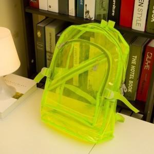(พร้อมส่งสีเขียว) กระเป๋าใส กระเป๋าเป้สะพายหลังแบบใส กระเป๋าใสกันน้ำ