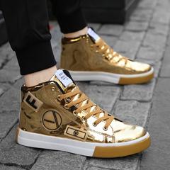 รองเท้าผู้ชาย ผู้หญิง ราคาถูก รองเท้าแฟชั่น รองเท้าผ้าใบ เท่ๆ มี สีทอง สีเงิน สีดำ มี เบอร์ 39-44