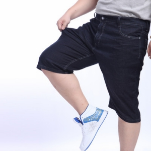 ขนาด: 40 42 44 46 48 50 52 สี:ตามแบบ กางเกงยีนส์ยืด  ขาสั่น กางเกงคนอ้วน กางเกงผู้ชาย ขนาดใหญ่