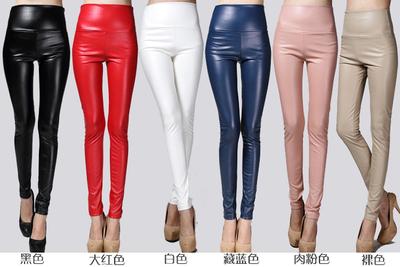กางเกงเลคกิ้งหนัง กางเกงเลคกิ้งขายาว กางเกงผู้หญิง
