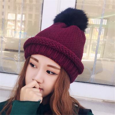 หมวกไหมพรมผู้หญิง หมวกกันหนาวแฟชั่น หมวกไหมพรมกันหนาว