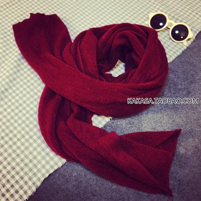 (พร้อมส่งสีไวท์แดง) ผ้าพันคอไหมพรม ผ้าพัรคอกันหนาว ผ้าผันคอแฟชั่น