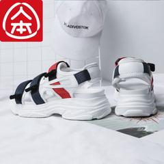 รองเท้าผู้ชาย ผู้หญิง ราคาถูก รองเท้า Velcro Roman รองเท้าแตะ เกาหลี มี สีขาว สีดำ มี เบอร์ 35-40
