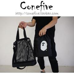 กระเป๋าผู้ชาย ผู้หญิง ราคาถูก กระเป๋าแฟชั่น กระเป๋าสะพาย กระเป๋าถือ CONEFIVE 2018 BAPE MESH BAG มี  สีดำ