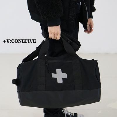 กระเป๋าผู้ชาย ผู้หญิง ราคาถูก CONEFIVE2018 ตาข่าย INS ใหม่กระเป๋าเดินทาง P + F 3M Bag กระเป๋าเดินทาง สีดำ