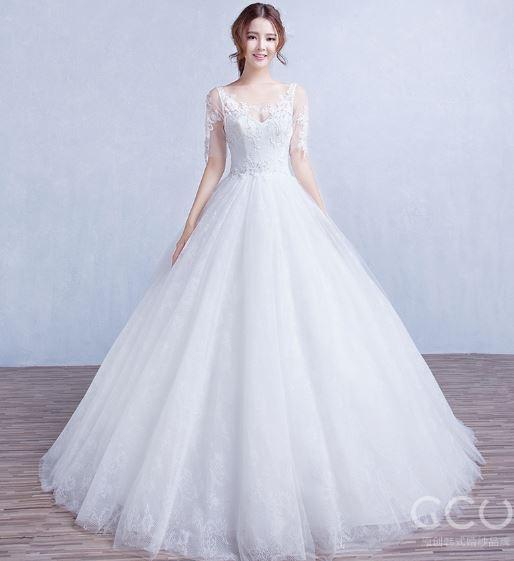 เสื้อผ้าแฟชั่น เสื้อผ้าผู้หญิง ชุดออกงาน ชุดแต่งงานสีขาวตามรูป