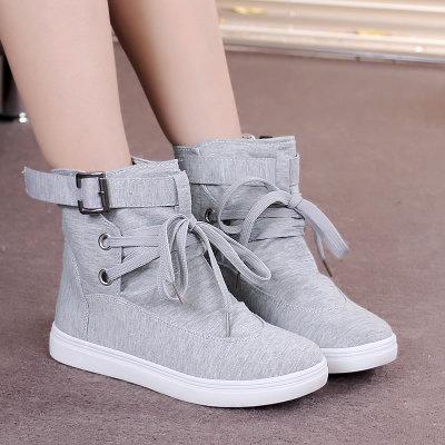 รองเท้าผู้หญิง ราคาถูก รองเท้าผ้าใบ รองเท้าแฟชั่น รองเท้าหนังนิ่มรองเท้าบูทของผู้หญิง มี สีเทา สีดำ มี ไซร์ 35-41