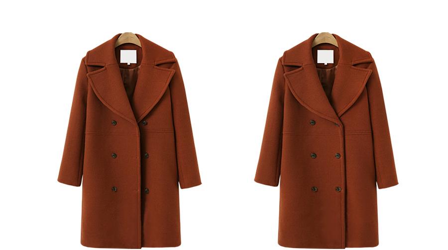 เสื้อผ้าผู้หญิง ราคาถูก เสื้อกันหนาว windbreaker woolen coat เสื้อคลุม  มี สีน้ำตาล สีอิฐแดง สีกากี สีดำ มี ไซร์ S M L XL