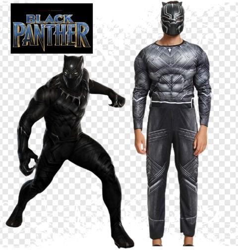 ++พร้อมส่ง++ชุดแบล็คแพนเธอร์ Black Panther ราชันย์เสือดำ ชุดมีกล้าม +หน้ากาก ความสูง 165-185 cm.(ใส่ได้ทั้งชายและหญิง)