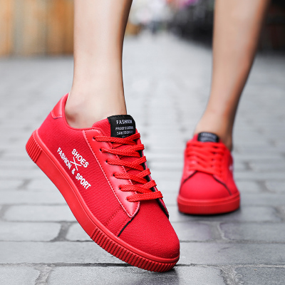 รองเท้าผู้หญิง ราคาถูก รองเท้าผ้าใบ รองเท้าแฟชั่น รองเท้าเกาหลี มี สีขาว สีดำ สีแดง มี ไซร์ 36-46