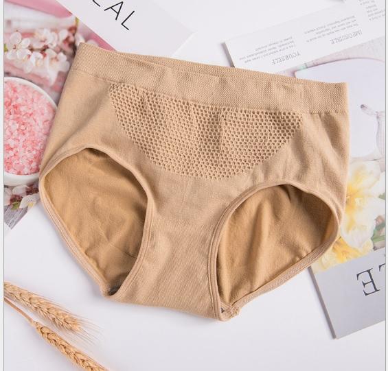 (พร้อมส่งสีเนื้อ) กางเกงในผู้หญิง กางเกงในผ้าทอ กางเกงในกระชับก้น