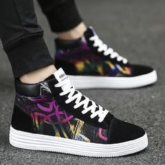 รองเท้าผู้ชาย ราคาถูก รองเท้าผ้าใบ รองเท้าแฟชั่น มี สีดำขาว สีดำแดง สีดำหลายสี มี ไซร์ 35-44