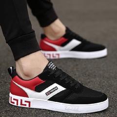 รองเท้าผู้ชาย ราคาถูก รองเท้าผ้าใบ รองเท้าแฟชั่น มี สีดำ สีดำแดง สีดำขาว มี ไซร์ 39-44