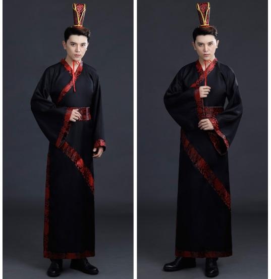 ++คลิกดูsize++ชุดจีนชายโบราณสีดำแดง ชุดฮ่องเต้ ชุดท่านอ๋อง แบบสวยเทห์ สไตล์จีนโบราณ ชุดฮั่นฝู