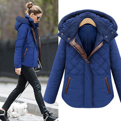 เสื้อผ้าผู้หญิง ราคาถูก เสื้อกันหนาว เสื้อคลุม เสื้อโค้ท มี สีดำ สีฟ้า มี ไซร์ S M L XL