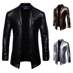 เสื้อผ้าผู้ชาย ผู้หญิง ราคาถูก เสื้อแจ็คเก็ตหนัง เสื้อคลุม มี สีเงิน สีดำ สีทอง มี ไซร์ M L XL 2XL 3XL
