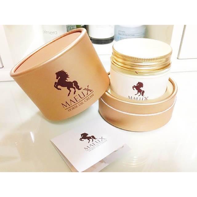 MAEUX Horse Oil Cream 70 ml. ครีมน้ำมันม้าทองคำ สูตรปรับปรุงใหม่ มหัศจรรย์ครีมน้ำมันม้า100%