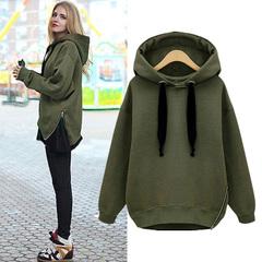 เสื้อผ้าผู้หญิง ราคาถูก เสื้อกันหนาว มี สีขาว สีเทาอ่อน สีดำ สีกองทัพเขียว มี ไซร์ S M L XL XXL