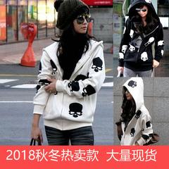เสื้อผ้าผู้หญิง ราคาถูก เสื้อกันหนาว มี สีขาว สีดำ มี ไซร์ S M L XL
