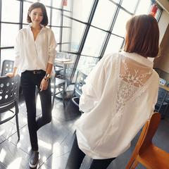 เสื้อผ้าผู้หญิง ราคาถูก เสื้อเชิ๊ต แขนยาว น่ารัก มี สีดำ สีขาว มี ไซร์ S M L XL 2XL 3XL 4XL 5XL