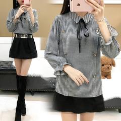 เสื้อผ้าผู้หญิง ราคาถูก เสื้อเชิ๊ต แขนยาว น่ารัก มี สีตามรูป มี ไซร์ S M L XL 2XL 3XL