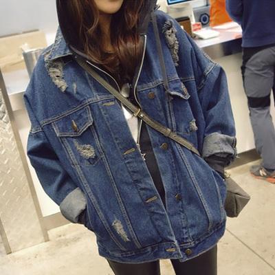 เสื้อแจ๊คเกตยีนส์ เสื้อยีนส์แขนยาว เสื้อยีนส์กันหนาว เสื้อแขนยาวผ้ายีนส์