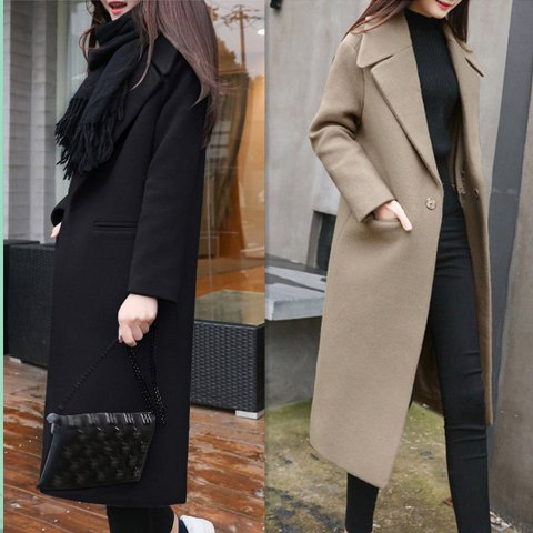เสื้อโค๊ทตัวยาว เสื้อโค๊ทผู้หญิง ชุดโค๊ทตัวยาว เสื้อคลุมตัวยาว