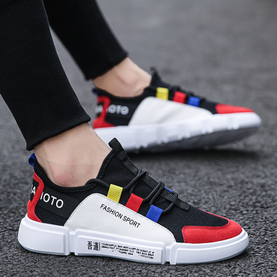 รองเท้าผู้ชาย ราคาถูก รองเท้าผ้าใบ รองเท้าแฟชั่น มี สีขาว สีดำฟ้า สีดำแดง มี ไซร์ 39-44