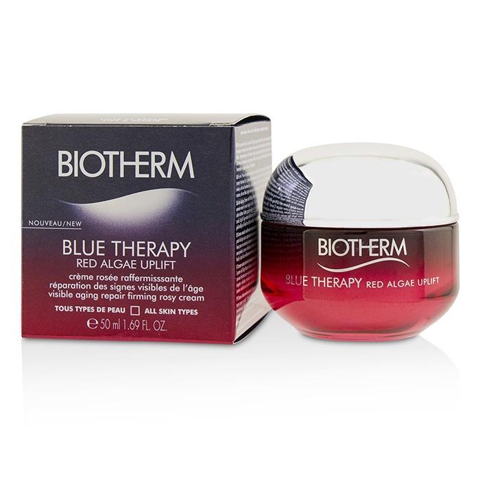 **พร้อมส่ง**BIOTHERM Blue Therapy Red Algae Uplift Visible Aging Repair Firming Rosy Cream 50ml. มอยซ์เจอไรเซอร์สารสกัดจากสาหร่ายสีแดง เนื้อครีมสีกุหลาบ สำหรับทุกสภาพผิว ช่วยยกกระชับผิว ลดเลือนและชะลอการเกิดริ้วรอย เนื้อครีมสีกุหลาบนุ่มลื่น เบา สบายผิว ผส