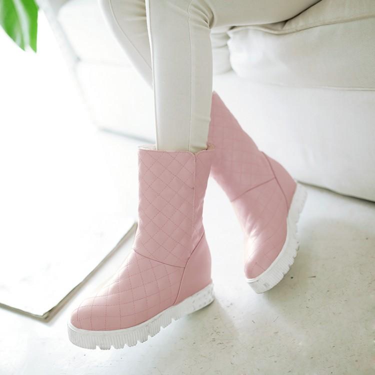 พร้อมส่ง - รองเท้าบูทสีชมพู ไซส์ 43