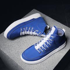รองเท้าผู้ชาย ราคาถูก รองเท้าแฟชั่น รองเท้าผ้าใบ เกาหลี มี สีน้ำเงิน สีแดง สีดำ สีขาว มี ไซร์ 39-44